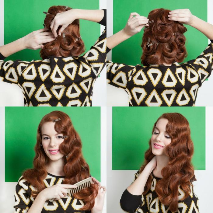 tutorial detallado sobre como ondular el pelo, ondas al agua estilo vintage fáciles de hacer sin calor