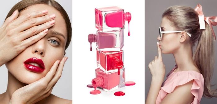 tendencias en las uñas decoradas para 2018, cortas uñas pintadas en gel en tono del rosado pastel