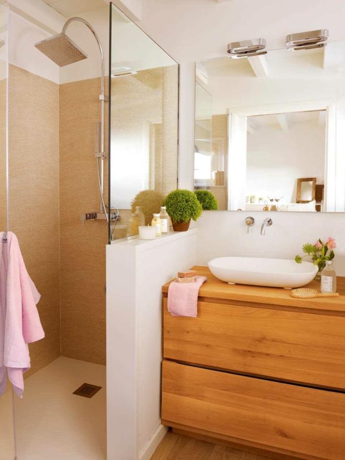 1001 ideas de decoracion para ba os peque os con ducha for Espejo afeitado ducha