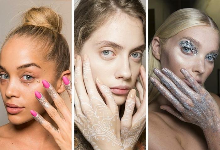 tres propuestas originales para tu manicura, decoracion de uñas en cyclamen, nude y color plata