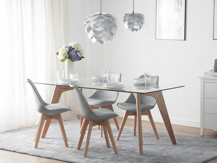 1001 ideas sobre decoracion de habitaci n gris for Sillas de comedor color gris