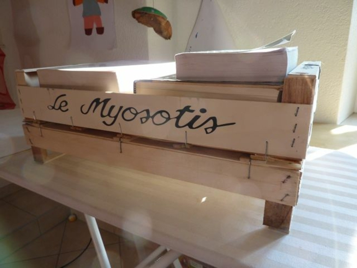 propuestas originales sobre como decorar cajas de madera, estanteria para libros hecha a mano