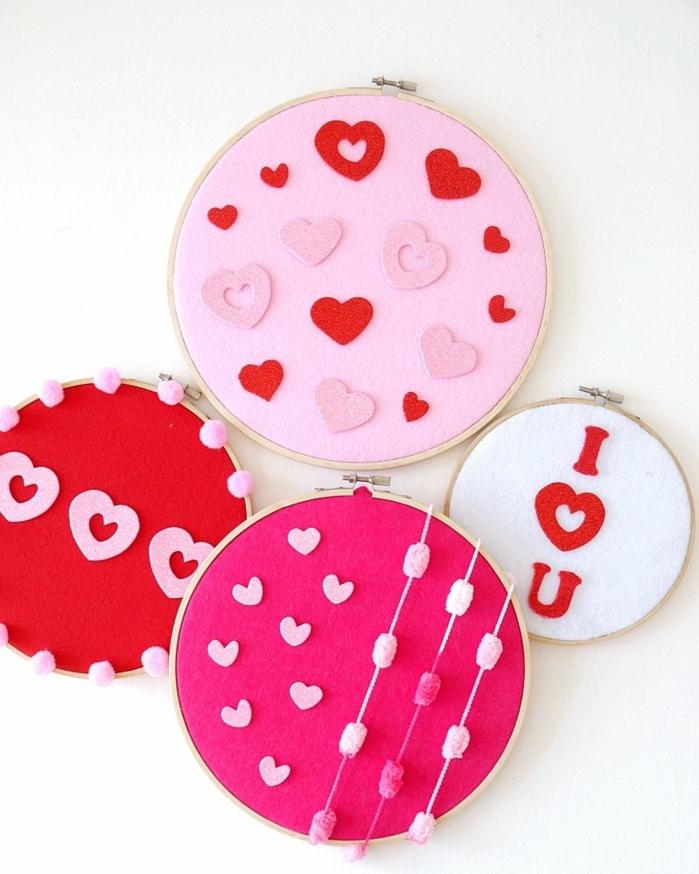 como sorprender a tu pareja el dia de san valentin, manualidades fieltro faciles de hacer con decoracion de corazones