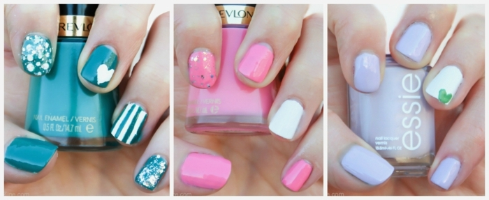 colores que están en tendencia para tu manicura, uñas de gel decoradas en colores llamativos ideales para los meses cálidos