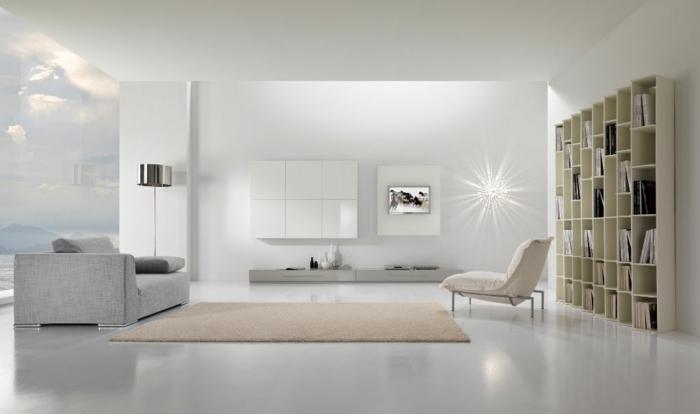 precioso salón con mucha luz decorado en colores claros, ejemplos de muebles de salon modernos de diseño, grandes ventanales y detalles en tonos pastel