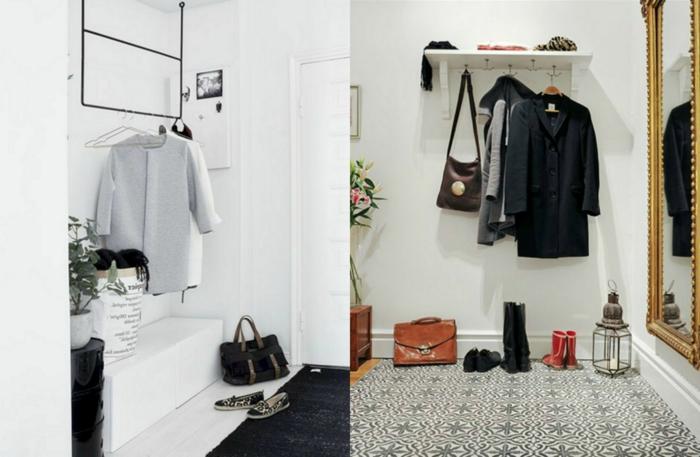 propuestas de percheros originales, muebles entrada funcionales y estéticos, recibidores modernos decorados en blanco