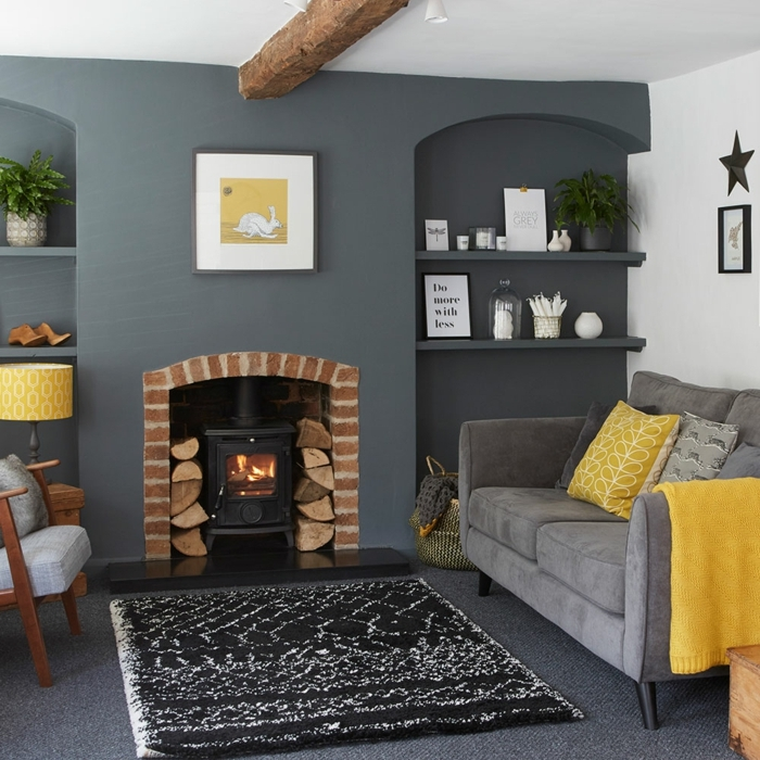 Pale Grey Living Room With Yellow Fireplace: 1001 + Ideas Sobre Decoracion De Habitación Gris