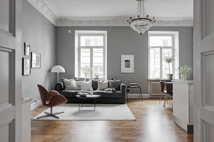 1001 ideas sobre decoracion de habitaci n gris - Paredes de salon ...