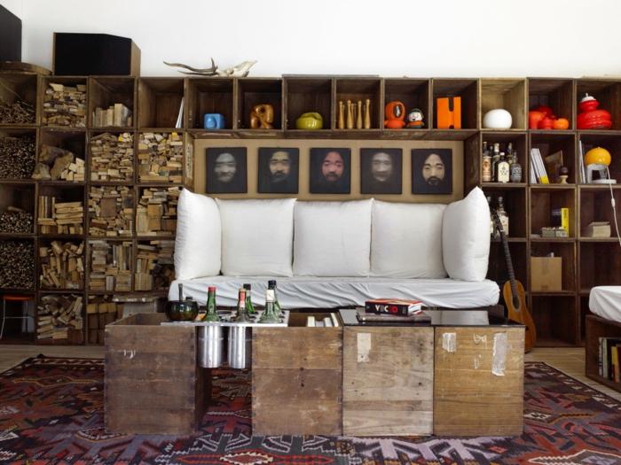 1001 ideas sobre decoraci n con cajas de fruta decoradas for Muebles con cajas de madera