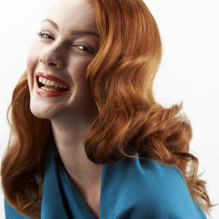 pelo ondulado en estilo retro, preciosas ondas vintage, como ondular el pelo diferentes variantes fáciles y bonitos