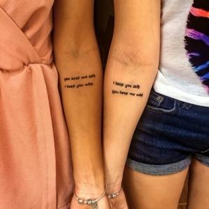 Tatuajes para hermanas - fantásticas ideas de diseño