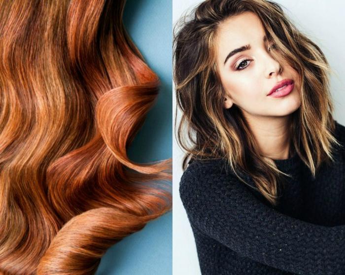 ideas para ondular la melena, como hacer ondas con la plancha dos variantes para el pelo, rizos bien definidos y rizos efecto despeinado