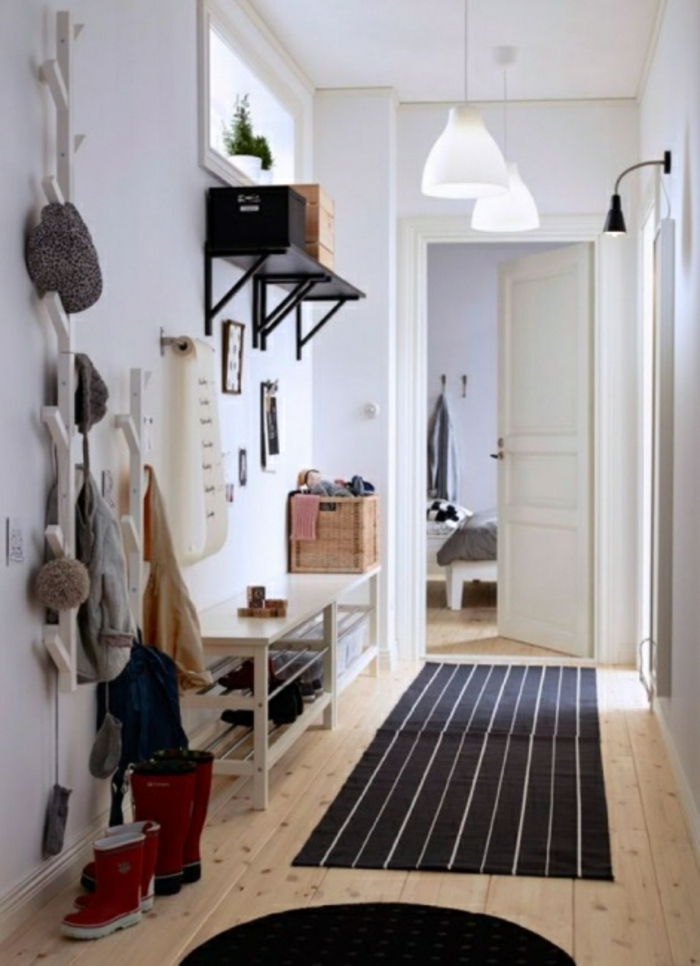 1001 ideas para decorar las recibidores peque os - Alfombras para recibidores ...