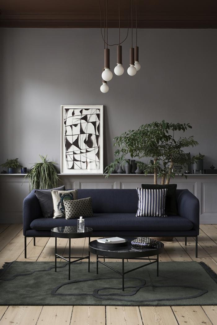 1001 ideas sobre decoracion de habitaci n gris - Decoracion salon gris y blanco ...
