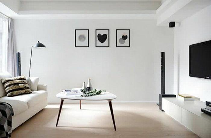 1001 ideas de decoraci n de salones minimalistas - Cuadros para salones minimalistas ...