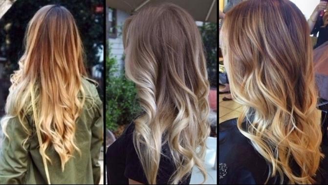 tres propuestas de encanto con mechones srubios, cabelleras largas con mechas californianas claras