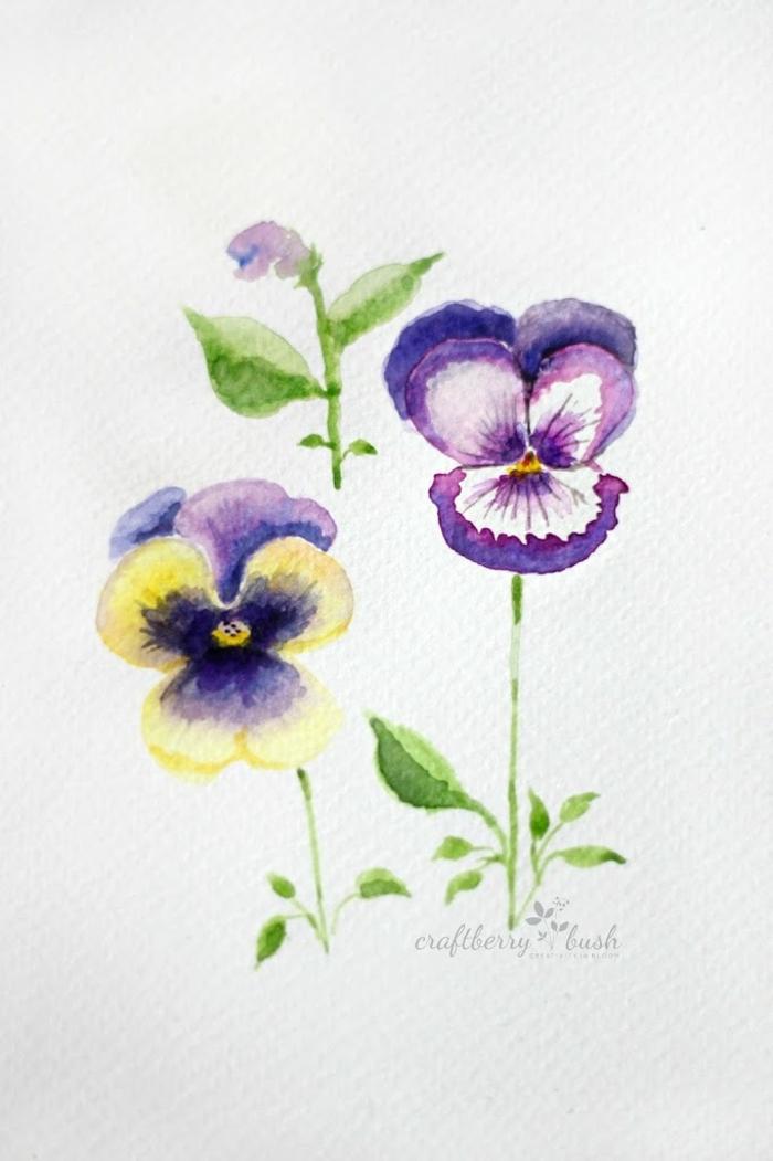 precioso dibujo de flores hecho en papel, como decorar huevos de pascua con pintura acrílica, bonitos patrones