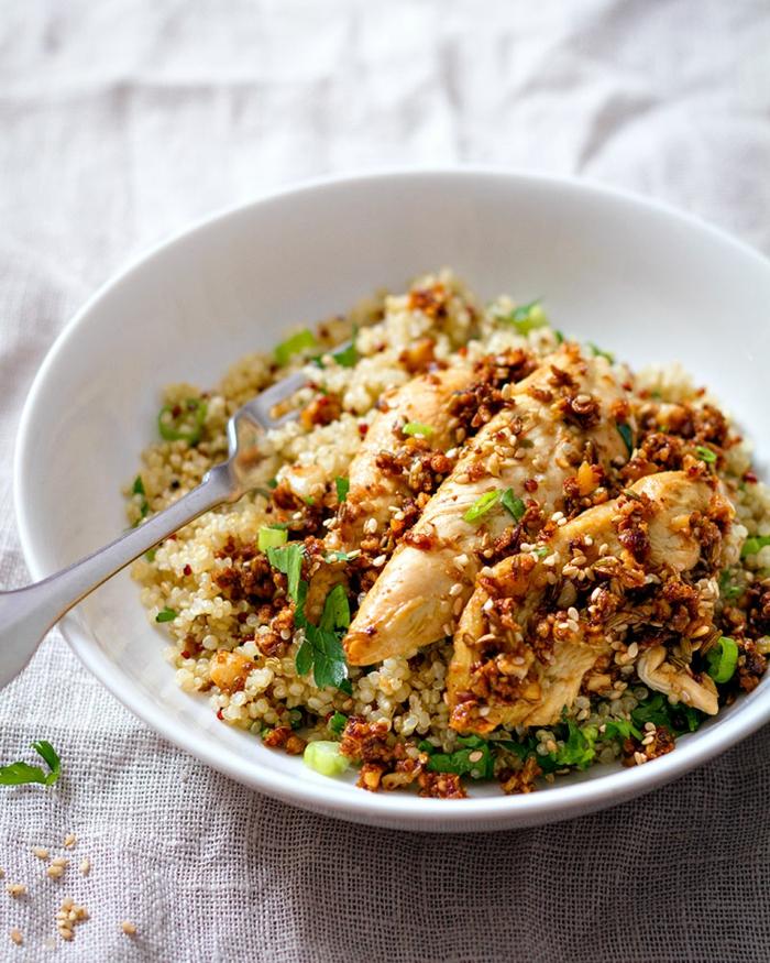 recetas saludables con pollo paso a paso, ideas fáciles de recetas de quinoa, ejemplos de platos para una dieta sana y equilibrada