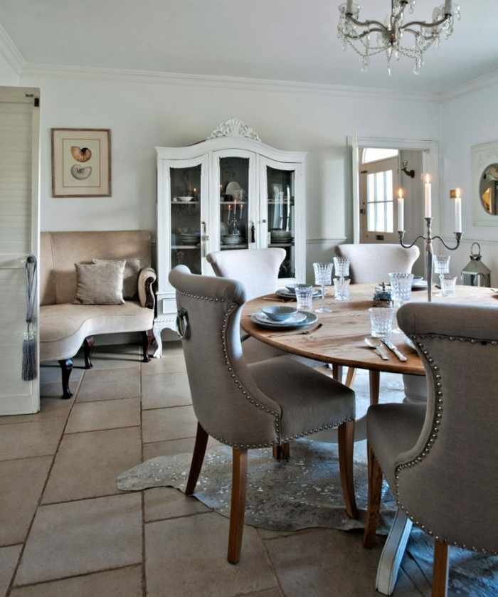 decoracion de salones en estilo vintage, magnificas ideas con muebles retro, salón comedor en colores pastel
