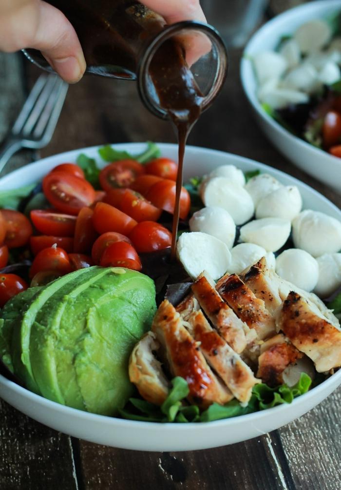 ensalada saludable con vinagreta casera paso a paso, recetas faciles y sanas ideas creativas