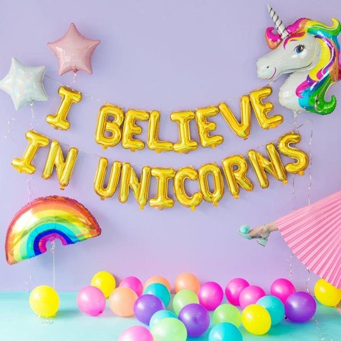 ideas ingeniosas de decoracion con globos, decoración casera para una fiesta de cumpleaños, ideas coloridas y originales
