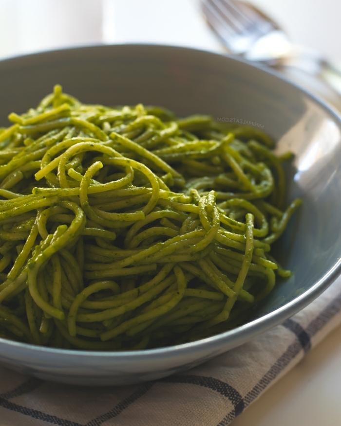 como preparar una sabrosa pasta integral con salsa vegana de espinaca, ejemplos de recetas fáciles y sanas