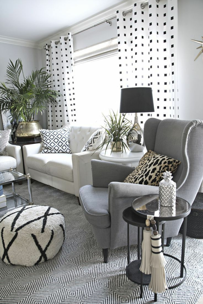 1001 ideas sobre decoraci n sal n gris y blanco - Decoracion salon gris y blanco ...