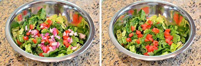 pasos para hacer una ensalada con verduras frescas pollo y maíz, ejemplos de recetas de cocina casera gratis