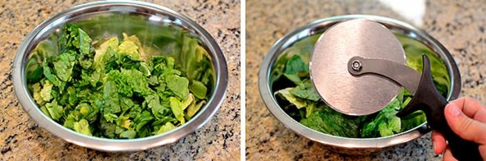 ideas de recetas de cocina casera gratis, ensalada verde cortada, ideas de ensaladas ricas y con pocas calorias