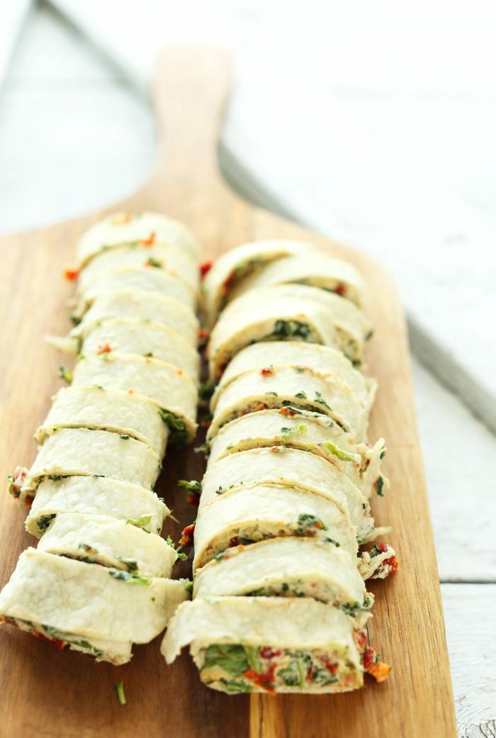 envueltos saludables paso a paso, recetas faciles con verduras y crema de leche, ejemplo de un almuerzo saludable