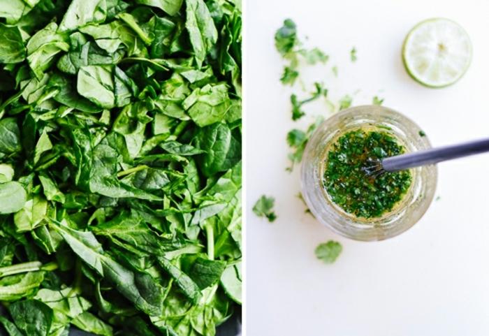 quinoa con verduras ideas sanas, como hacer una vinagreta de espinacas para un cocido con quinoa