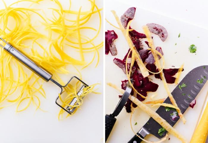 como hacer una ensalada de quinoa y aguacate paso a paso, ralladura de limones y remolacha