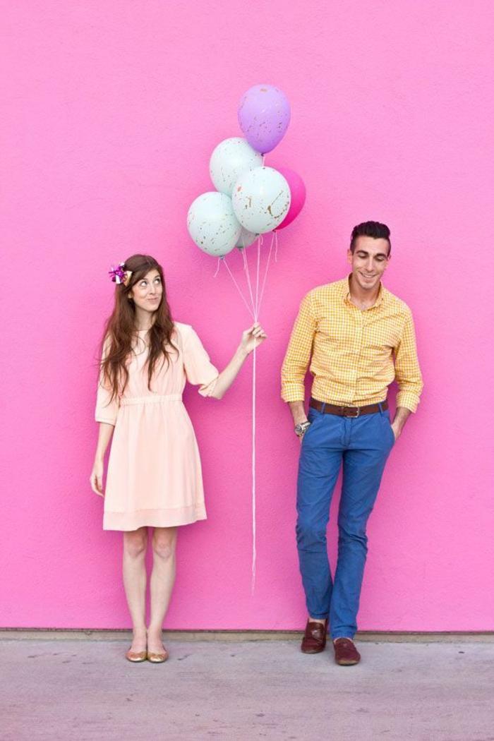 ideas sobre como sorprender a tu pareja con un ramo de globos decorados a mano, globos de cumpleaños con decoración DIY