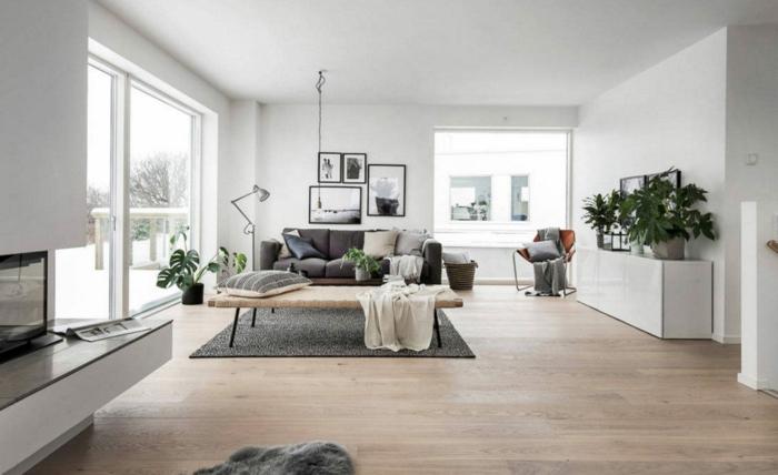 ides de decoración en estilo escandinavo, como decorar un salon comedor en tonos claros y diseño minimalista