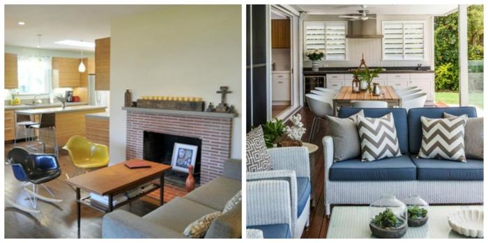 dos propuestas de salones comedores de encanto decorados en colores claros, como decorar un salon comedor paso a paso