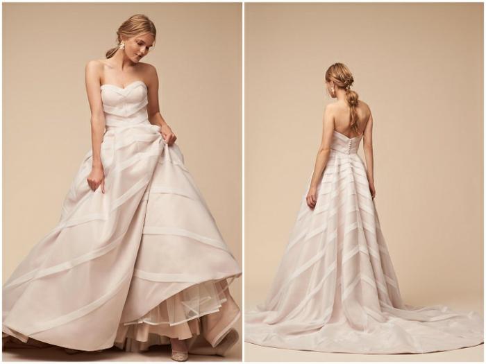 propuesta encantadora de vestido de novia con escote palabra de honor y grande falda, ejemplos de vestidos ibicencos baratos