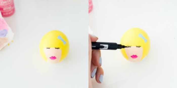 manualidades con huevos paso a paso, huevos de pascua para colorear con dibujos atractivos y fáciles de hacer