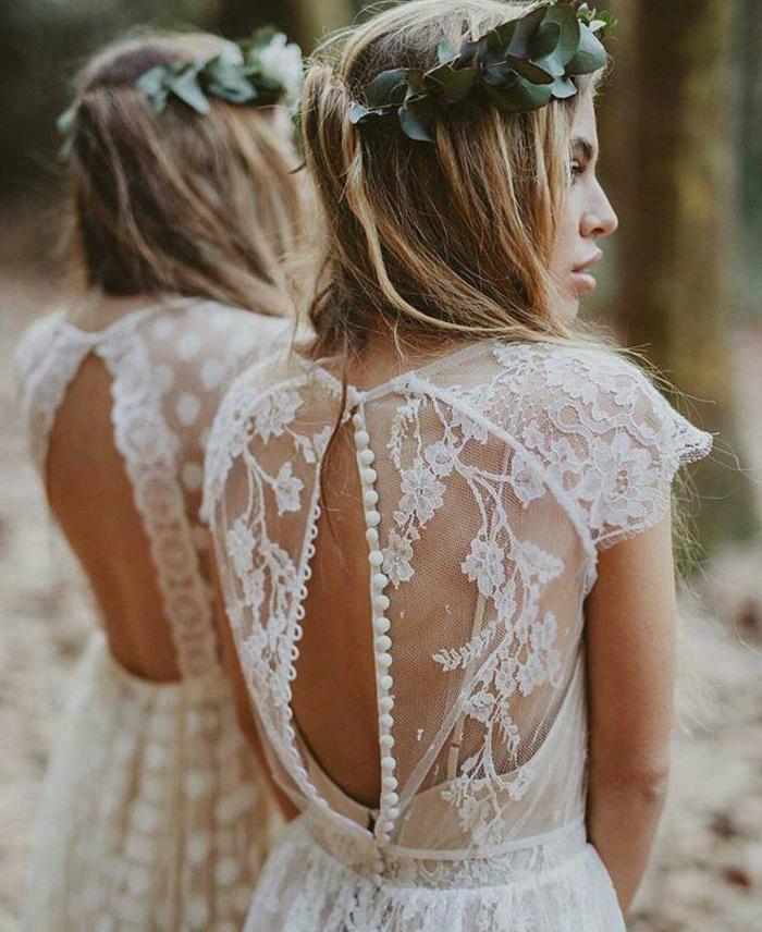 vestidos ibicencos baratos, espalda muy original semidescubierta con tela bordada motivos florales