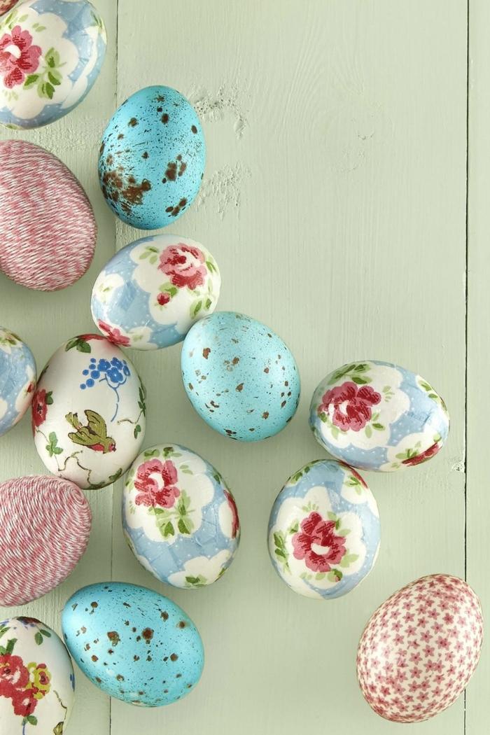 huevos originales, ideas sobre cómo decorar huevos de pascua, tecnicas faciles y atractivas, huevos con flores bonitas