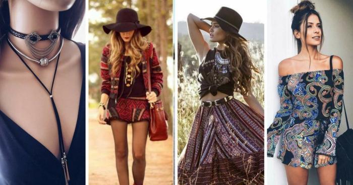 ideas de prendas y accesorios en estilo boho chic, ropa hippie mujer, tendencias primavera verano 2018