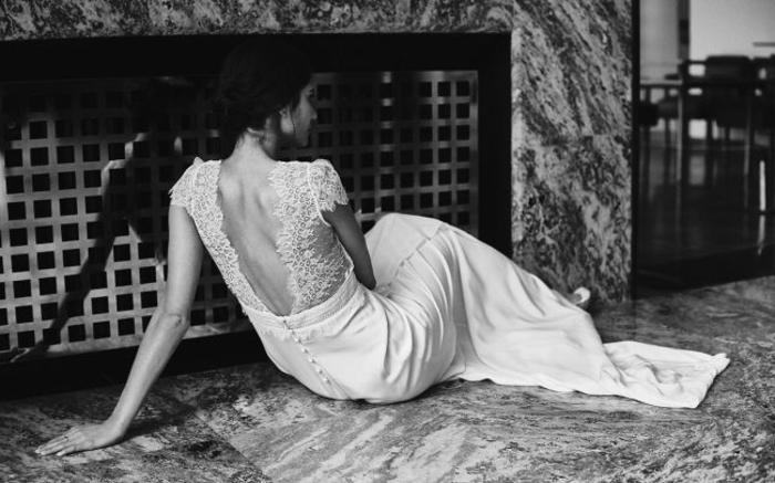 vestido elegante y refinado con espalda semidescubierta, vestidos ibicencos baratos, falda larga de corte recto