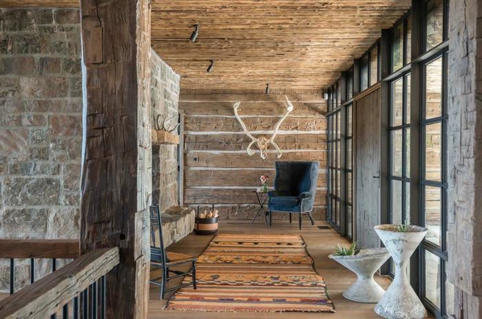 ejemplos de salones rusticos modernos, tendencias decoracion salones 2018, muebles de época, decoracion rustica