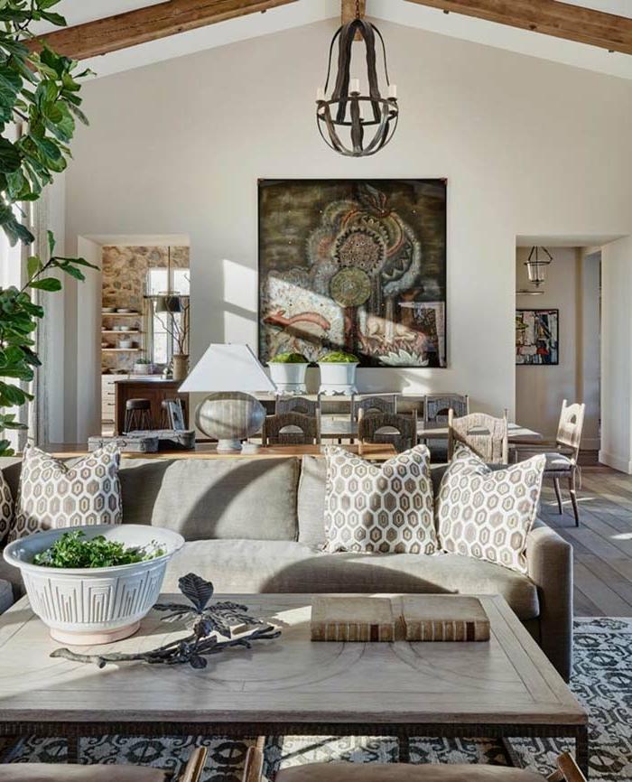 1001 ideas sobre decoraci n de salones r sticos modernos - Salones modernos decorados ...