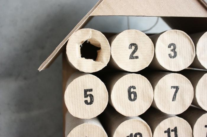 ideas de manualidades con cartón y papel, calendario de adviento DIY paso a paso, como hacer manualidades