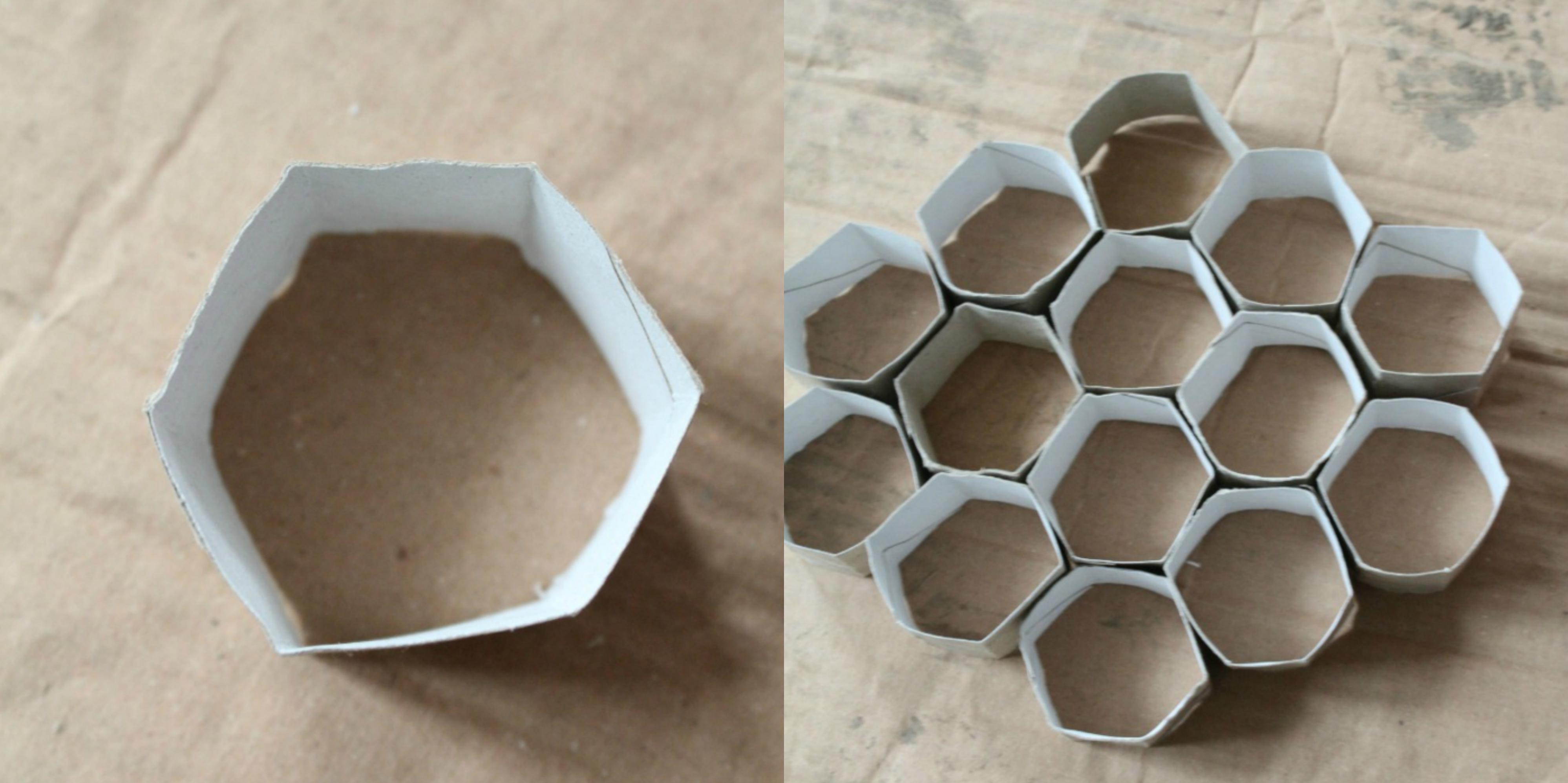como hacer una decoración para el dormitorio infantil de tubos de carton de papel higienico, ideas manualidades con tubos de carton