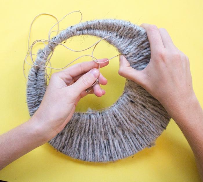 pasos para hacer atrapasueños manualidades, ideas DIY faciles y originales para decorar la casa