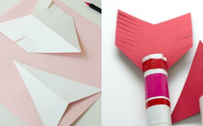flechas hechas de cartón paso a paso, ideas manualidades con papel higienico paso a paso