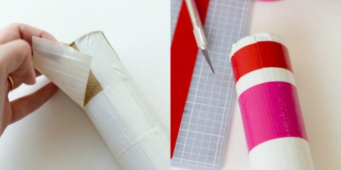 como decorar un globo en forma de corazon con flechas de tubos de cartón, ejemplos de manualidades con papel higienico