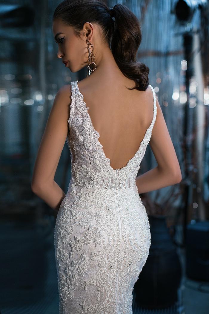 precioso diseño corte sirena, tela con encaje espalda descubierta, tendencias vestidos de novia princesa 2018