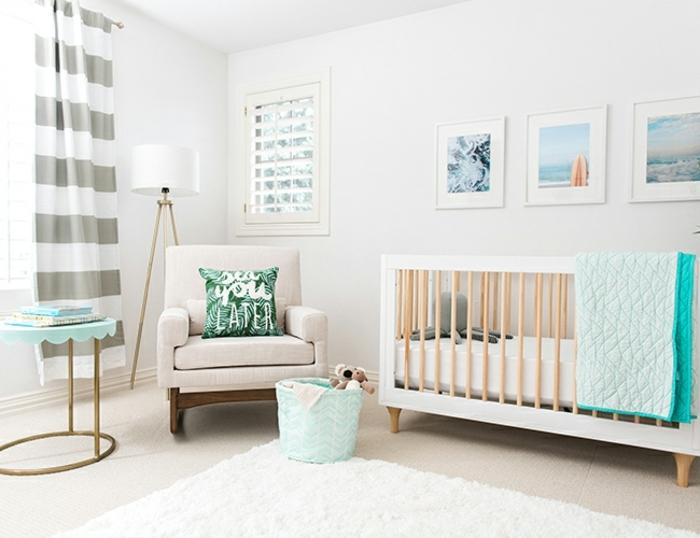 ambiente pintado en colores neutrales con detalles en tonos frescos, habitaciones de niñas en tonos pastel